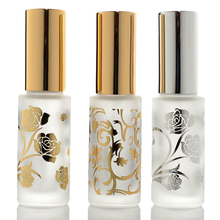 5pcs/lot 12ml Frosted Glass Perfume Bottles Empty Spray Atomizer Refillable Bottle Scent Case with Travel Size Portable