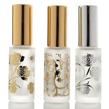 Frascos de Perfume de vidrio esmerilado, frascos de Perfume vacíos atomizador en Spray, caja rellenable con tamaño de viaje, portátil, 12ml, lote de 5 unidades