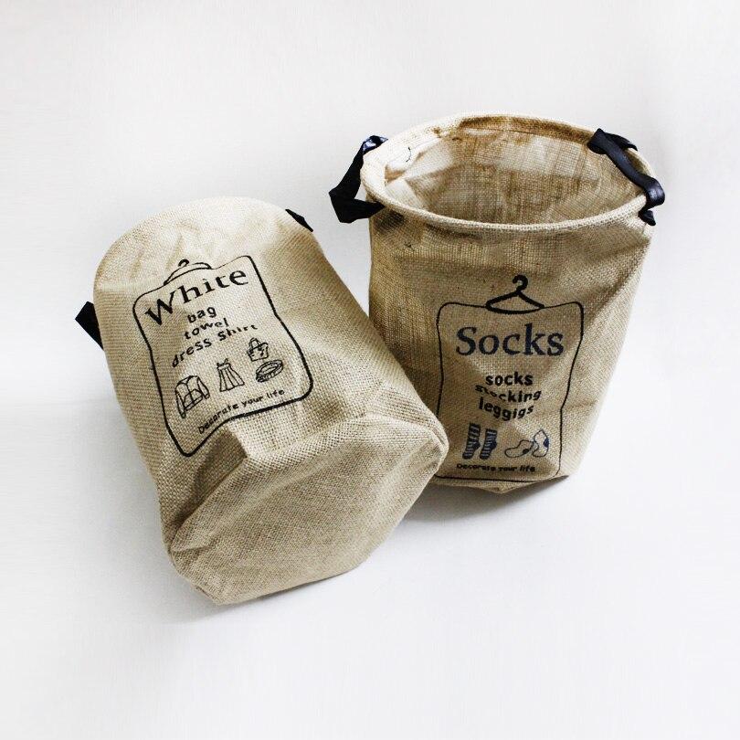 ᐃZakka estilo mantener la calma y llevar almacenamiento yute cesta ...