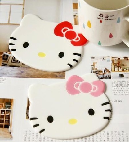 kt cat coasters nonslip coaster cute coasters bowl pad potholder 003