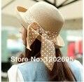 Playa moda verano mujer sombreros mujeres de sunbonnet gran sombrero de ala del sombrero de ala del strawhat