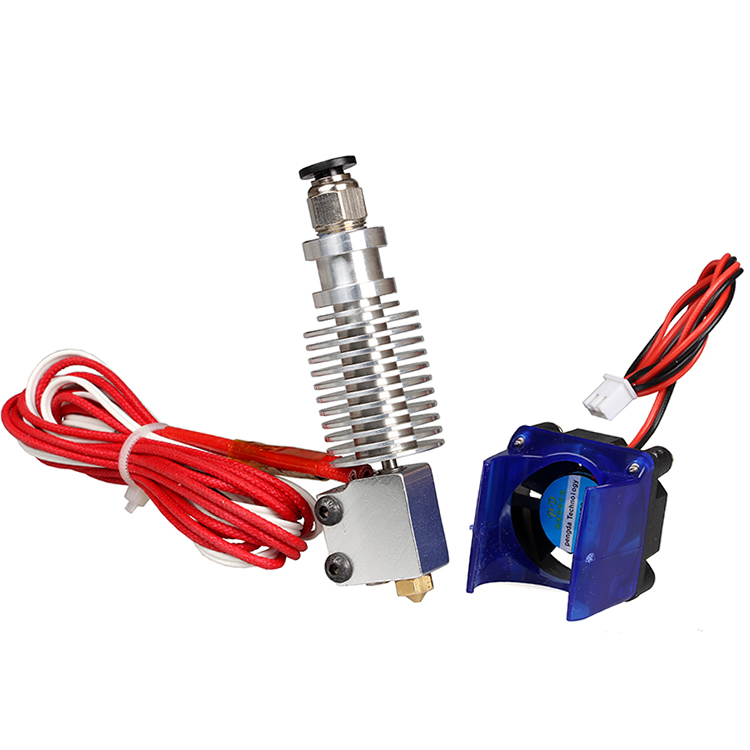 v6 J-head Hotend with Fan 12V and tube Volcano kit for 3D printer