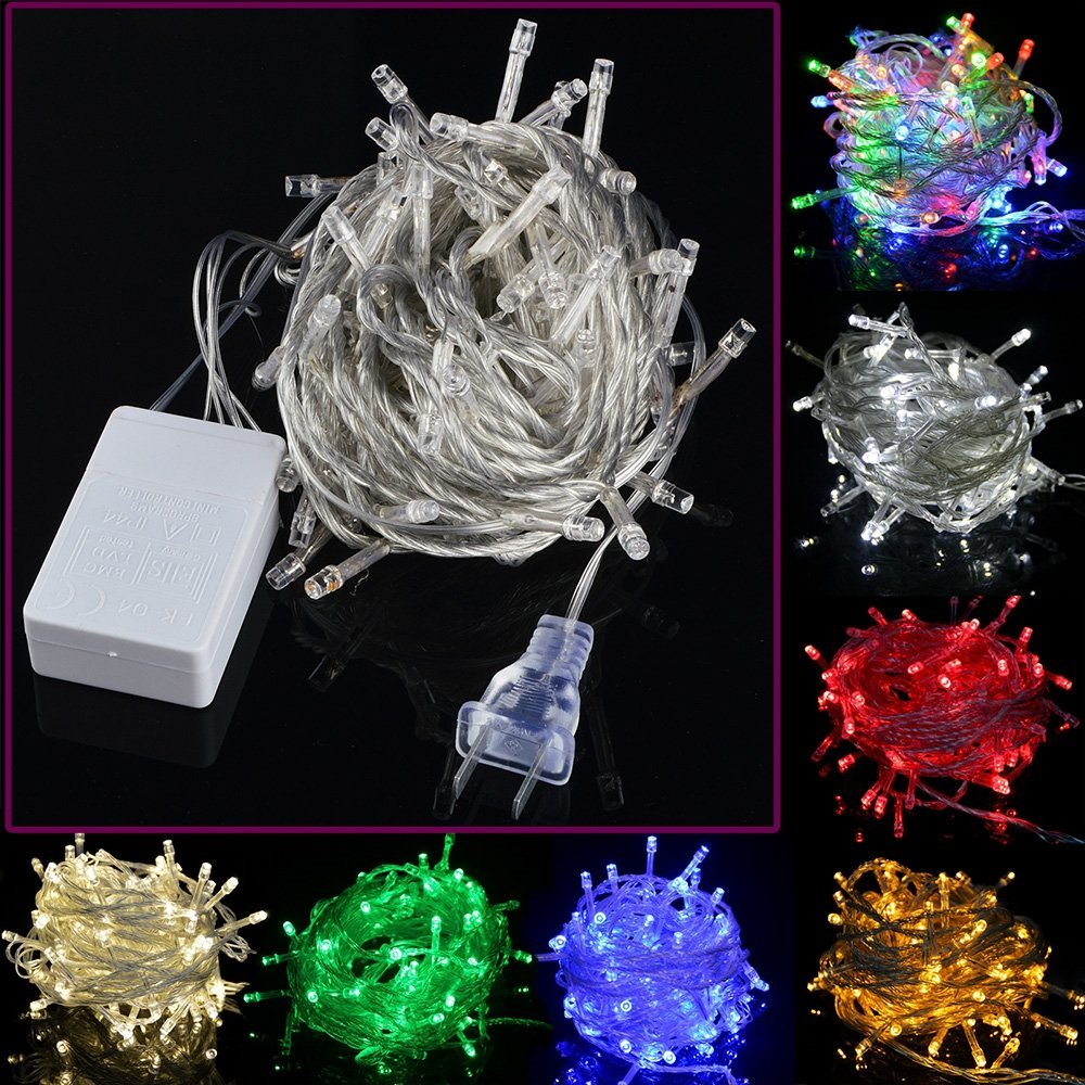 DIP 100 LED 10m ledd String Decoration Light för julparty Bröllop - Festlig belysning