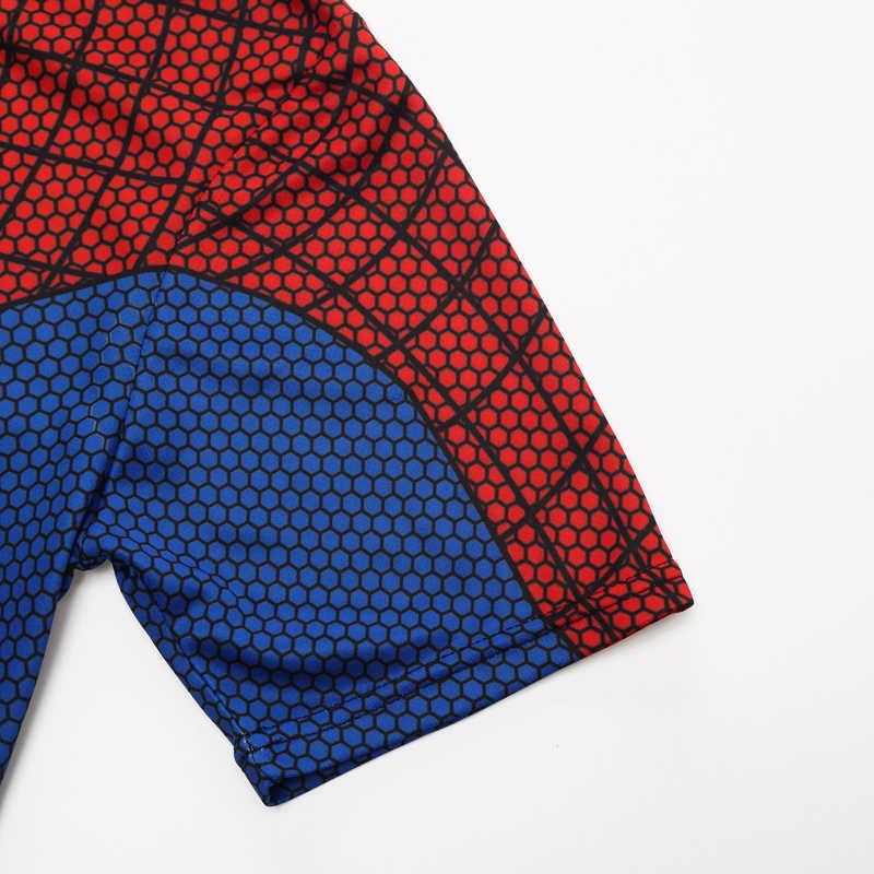 Новинка 2018 Бэтмен Человек-паук Железный человек Супермен Капитан Америка Зимний Солдат Marvel футболка Мстители Костюм комиксы супергерой мужские