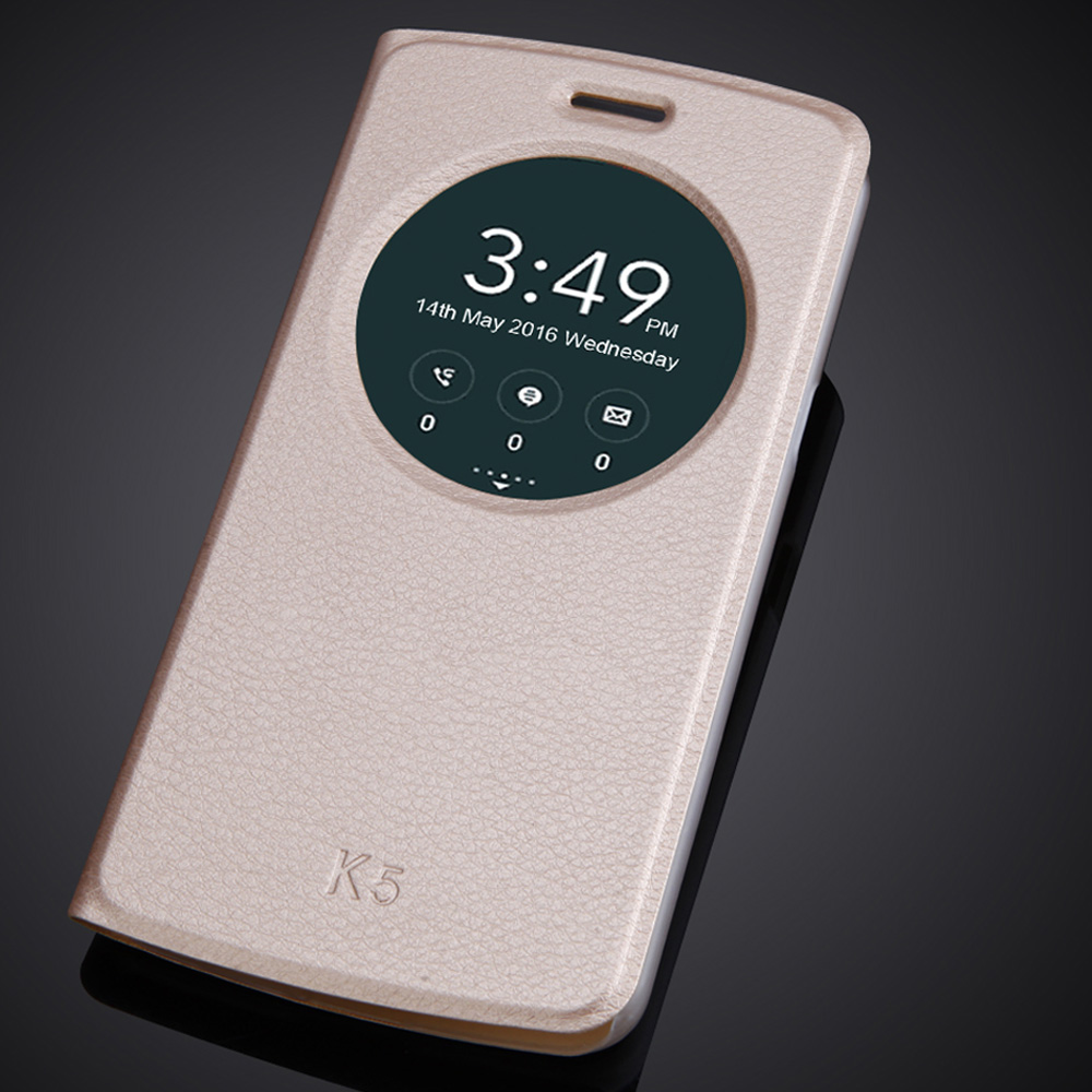 Luxury Flip Window Case For LG K5 X220 <font><b>X220DS</b></font> Q6 5.0