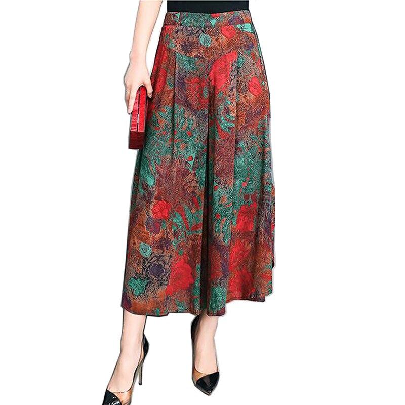 2019 décontracté lâche large jambe pantalon Vintage taille élastique pantalon décontracté coton cheville longueur pantalon grande taille 5XL mode chaud