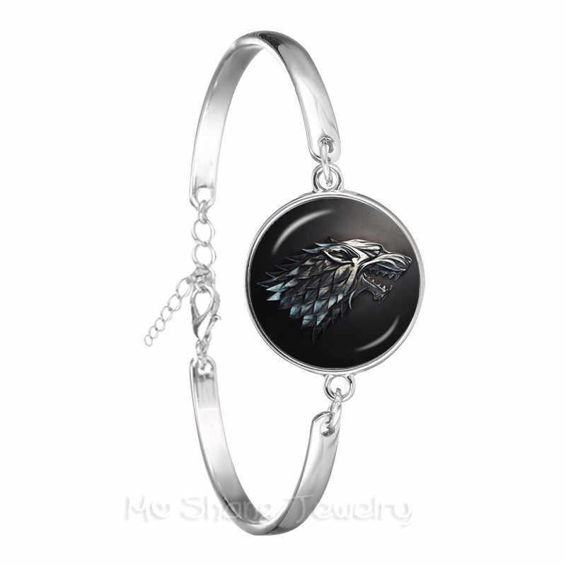 Gra o tron bransoletka 9 rodzina odznaka znak srebrny Plated bransoletka dla kobiet i mężczyzn rodziny godło miłośników biżuterii prezent