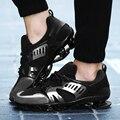Nueva llegada de Los Hombres de Moda Casual Zapatos de Los Hombres de Encaje Hoja de Primavera Otoño Invierno de los hombres casual Para Hombre de la marea resistencia al deslizamiento Entrenadores