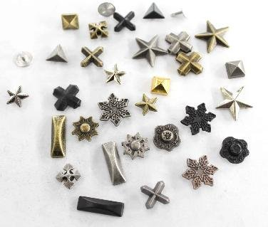 Free shipping Mix wholesale100pcs a lot DIY metal denim jeans rivets,Zinc alloy leather rivets,fashion garment rivet