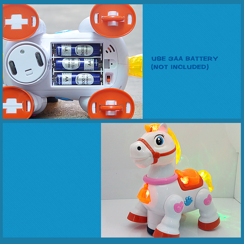 US $15 12 20% OFF|Electric interactive toys:universal and walking Horse &  Horse For Games, Sound Light Moving Kids Gift Hot Toys-in Electronic Pets