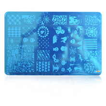 MAFANAILS 1Pc Rectangle Nail Stamping Plate Flower/Paisley/SKull Rose Template Art Image Stencil for Stamp Polish DIY