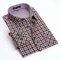 Новый 2015 весна Мужская марка рубашки с Длинным рукавом плед Фланель sueded рубашки для мужчин Толстые теплые рубашки мужчин 20 цветов 100% микрофибры