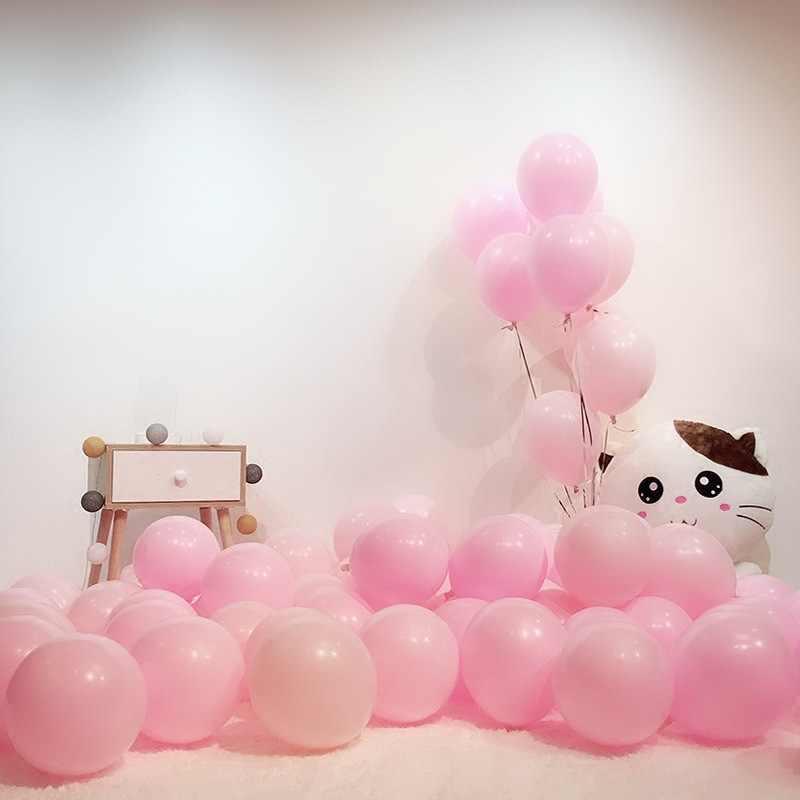 Утепленные 10 дюймов один слой макароны, конфеты цвет серии воздушные шары для свадьбы, вечеринки украшения полоска для воздушных шаров