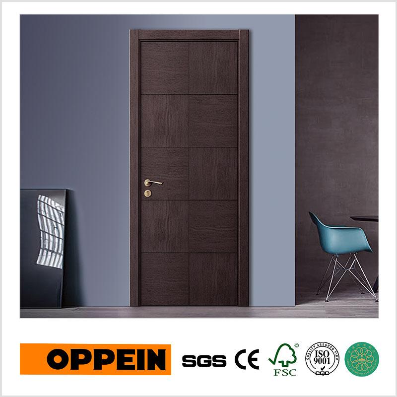 oppein diseo simple puerta interior de madera mdf venner madera plana ydgd
