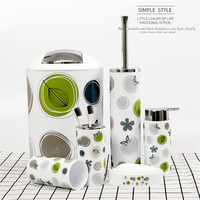 Printed Plastic Bathroom 6 Sets of Toiletries Set European Wash Set Hotel Bathroom Supplies Bathroom Accessories