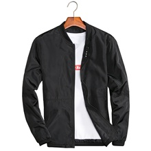 купить 2019 New Spring Black Bomber Jacket Men Streetwear Slim Bomber Jacket Men Jackets Plus Size 5XL Zipper Jacket Male Casual Coat дешево