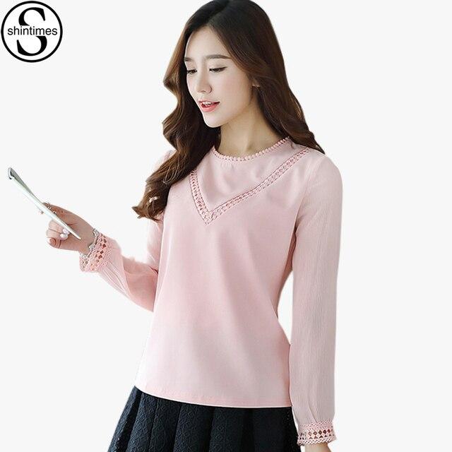 larga Oficina nuevo primavera 2018 de Mujer damas manga blusa elegante gasa otoño Blusas camisa Camisetas wqp6nx