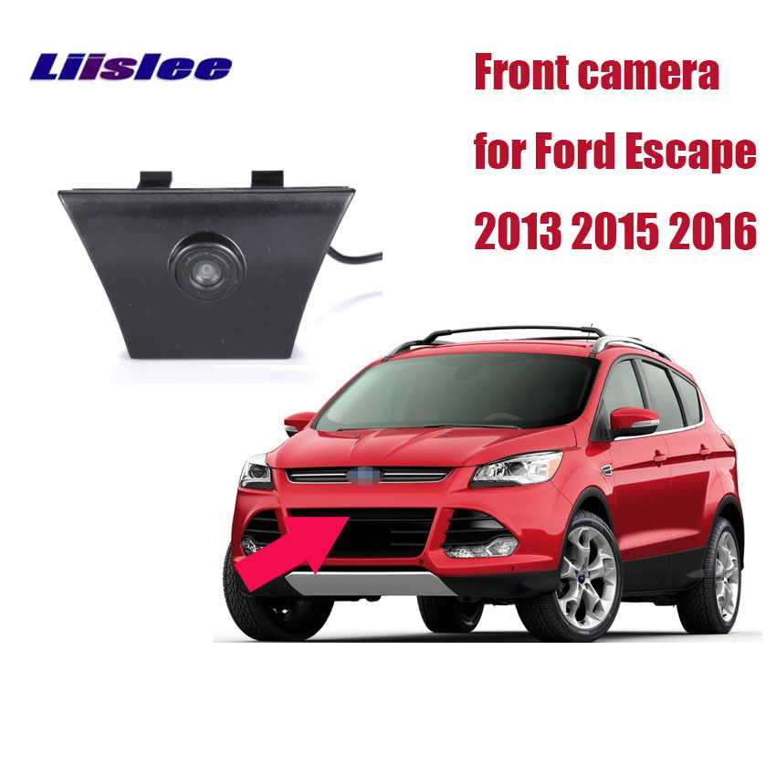 LiisLee For Ford Escape 2013 2015 2016 Waterproof CCD Cars front Logo Parking Camera