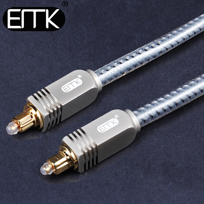 Optical Audio Cable OD8.0 Digital SPDIF Fiber Optic Toslink to toslink Audio Cable from EMK