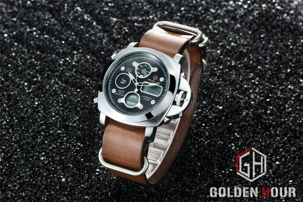ผู้ชายแฟชั่นW Ristwatcheหรูหราร้อนแบรนด์ฉลามนาฬิกาสไตล์ผู้ชายสายหนังนาฬิกากีฬานาฬิกาที่มีคุณภ... 16