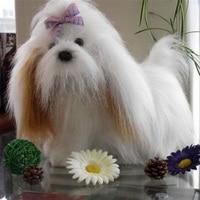 Fancytrader Plush Dog Toy Shih Tzu Fluffy Soft Fur Dog Doll 30cm 12inch Kids Present