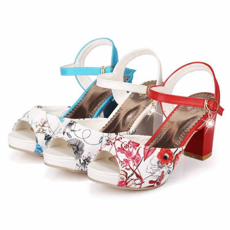 Fanyuan nouvelle offre spéciale mode carré talons hauts chaussures habillées pour les femmes doux décontracté boucle sangle d'été chaussures habillées