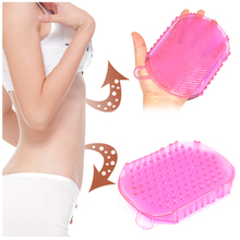 1pcs colorful Body Massage Brush For anti fat Body weight massage gloves Exfoliator brush Glove Scrub Bath (B165)