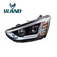 VLAND Factory For Car Head Lamp For Hyundai IX45 LED Headlight 2013 2014 2015 2016 New Santa Fe Head Light DRL H7 Xenon Lamp