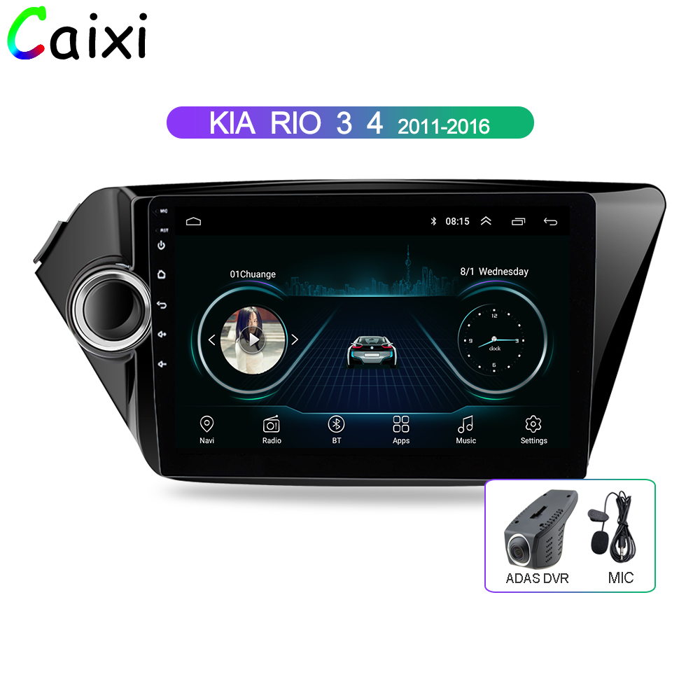 CAIXI 9'' Android 8.1 2din Radio Multimedia Player For Kia RIO 3 4 Gps Navigation