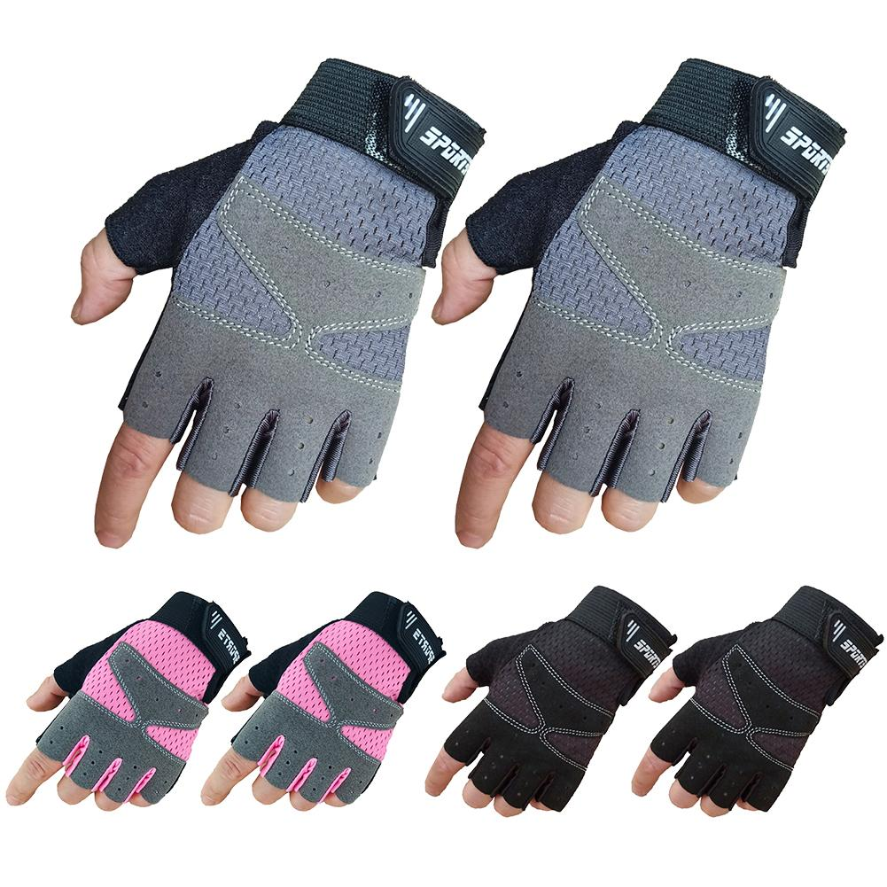 Outdoor Cycling Gloves Half Finger Sports Gloves Bike Protective Gym Weightlifting Running Gloves For Teenagers Kid Men Women