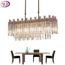 Youlaike Современная хрустальная люстра для обеденная прямоугольник украшения дома Освещение светильники светодио дный люстры де Cristal