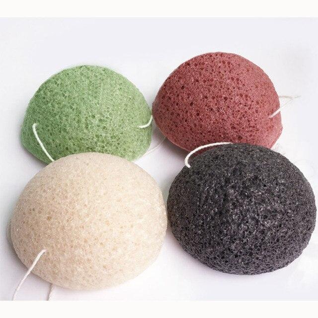 70*40 semicircle dry natural giantarum konjac sponge konnyaku for facial cleansing, exfoliator, bathing washing puff 100pc