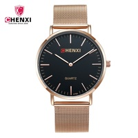 Luxury CHENXI Brand Rose Gold Men Casual Watches Minimalism Thin Dial Fashion Party Business Dress Male