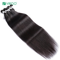 Virgo Hair 30 32 34 36 Inch Bundles Straight Malaysian Human Hair Weave Bundles Long Remy Hair Extensions 3 4 PCS Hair Weft