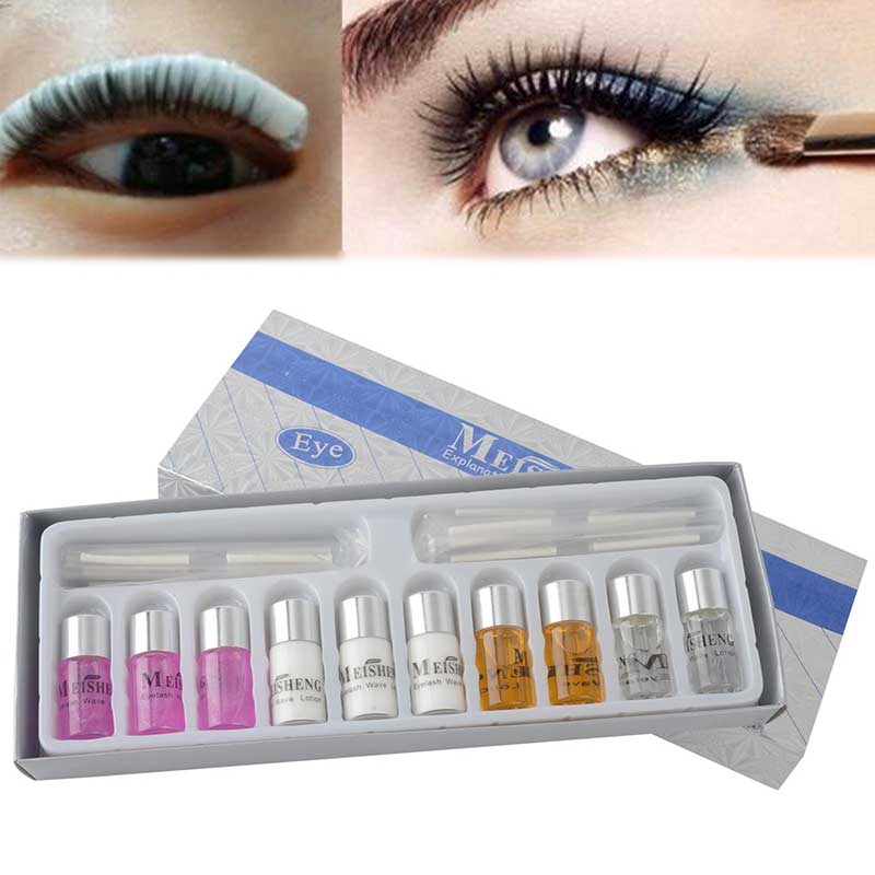 Eyelash Wave Lotion Kit False Eyelash Eye Rod Glue Set Curls Last Up T0 3 Months Permanent Eyelashes Perm