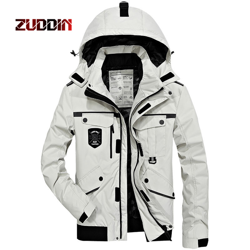 Dropshipping New men's cotton winter thicker warm large size hoodie cotton jacket trend jacket men outdoor windproof jacket