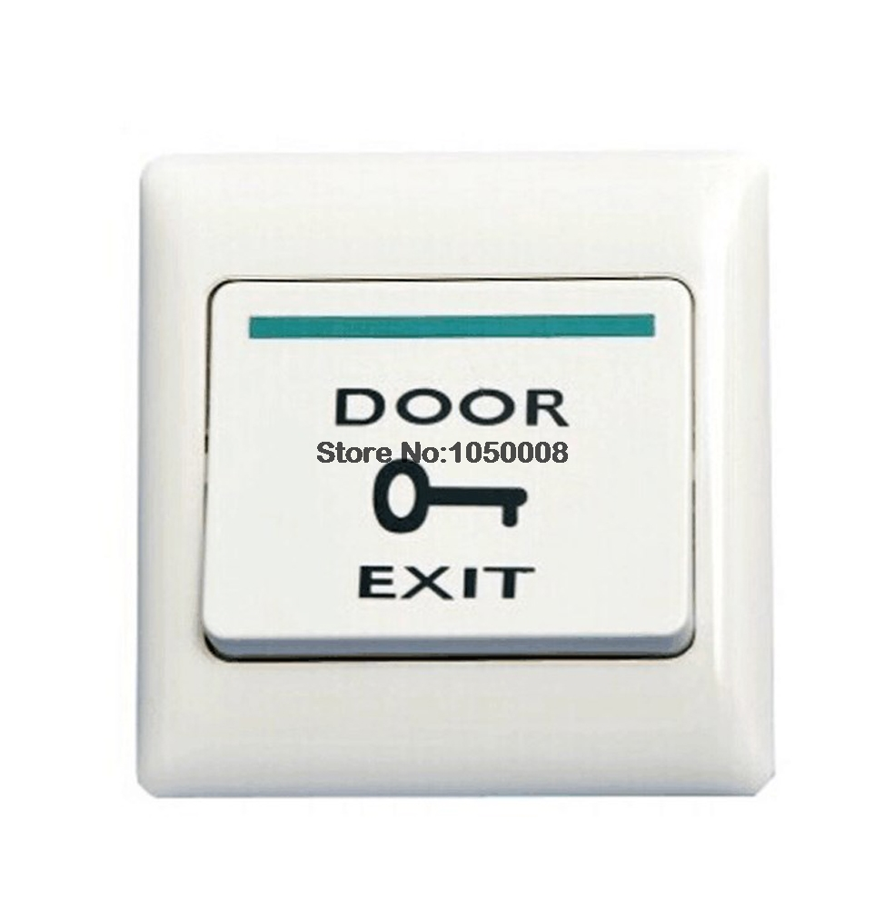 White Push Door Release Exit Button Switch For Electric Access Control System free shipping plastic exit button exit switch for door access control system door push exit door release switch with back box