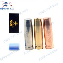 Original 100Gani Mech Mod 1:1 Gani Bullet 18650 510 thread Mechanical E-cigarette Mods SS/Brass/Copper High Quality Tube