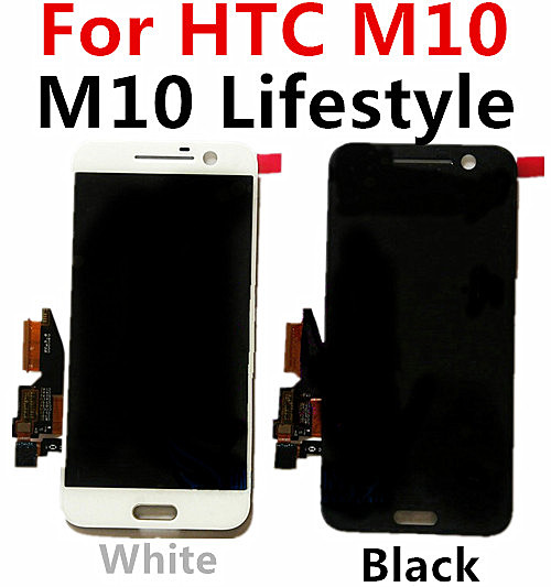 ФОТО for HTC ten / one 10 lifestyle M10 phone screen LCD touch screen assembly, both inside and outside touch with LCD display