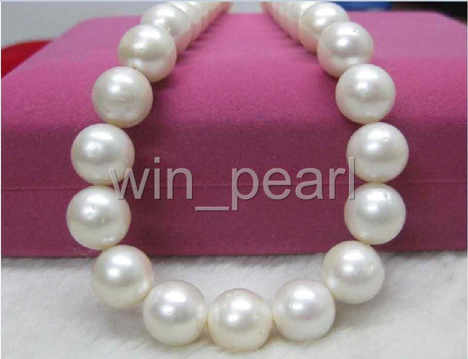 natural AAA 18 11-12mm genuine south sea White pearl necklacenatural AAA 18 11-12mm genuine south sea White pearl necklace