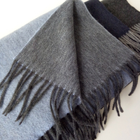 100%goat cashmere double face color long ring scarfs for unisex 30x160cm+8cm tassel