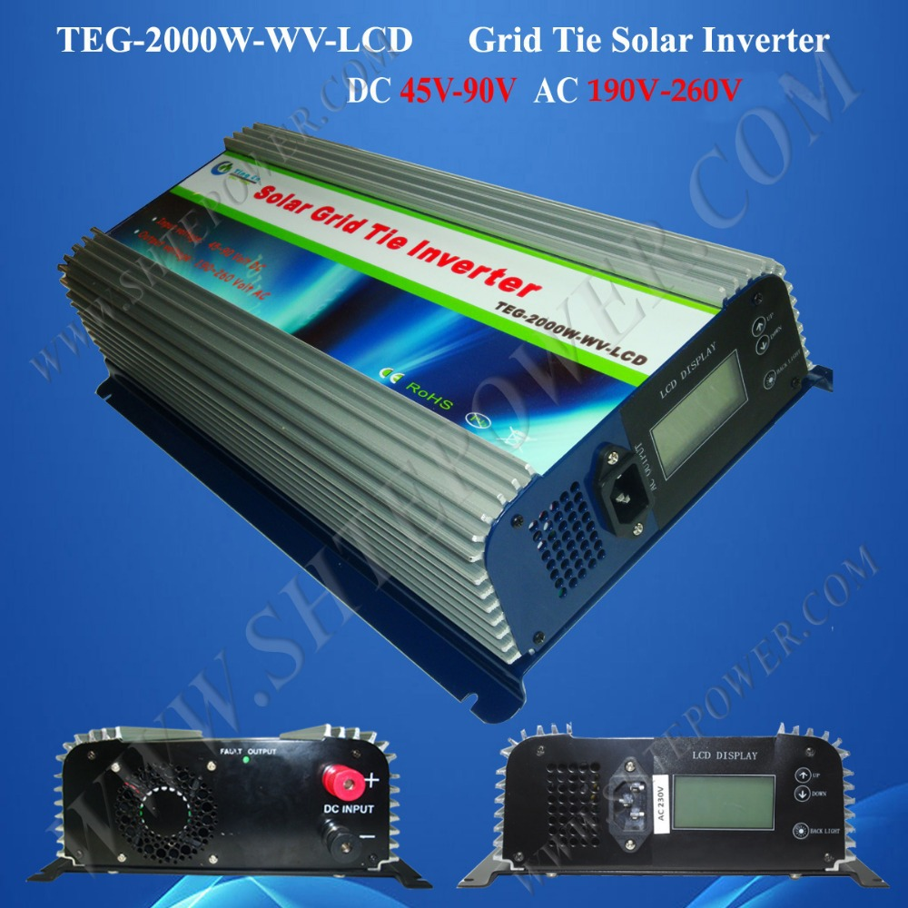 micro inverters grid tied 2000w dc 48v to ac 240v power grid tie inverter solar power on grid tie mini 300w inverter with mppt funciton dc 10 8 30v input to ac output no extra shipping fee