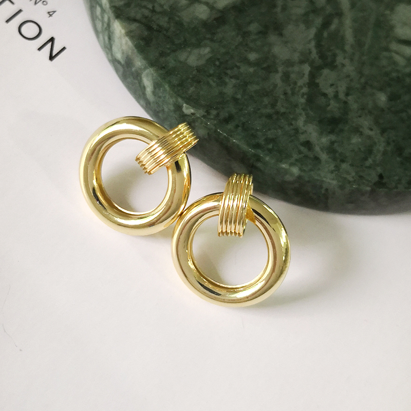 boucle d/'oreille les femmes des bijoux déclaration cercle moyenne géométrique