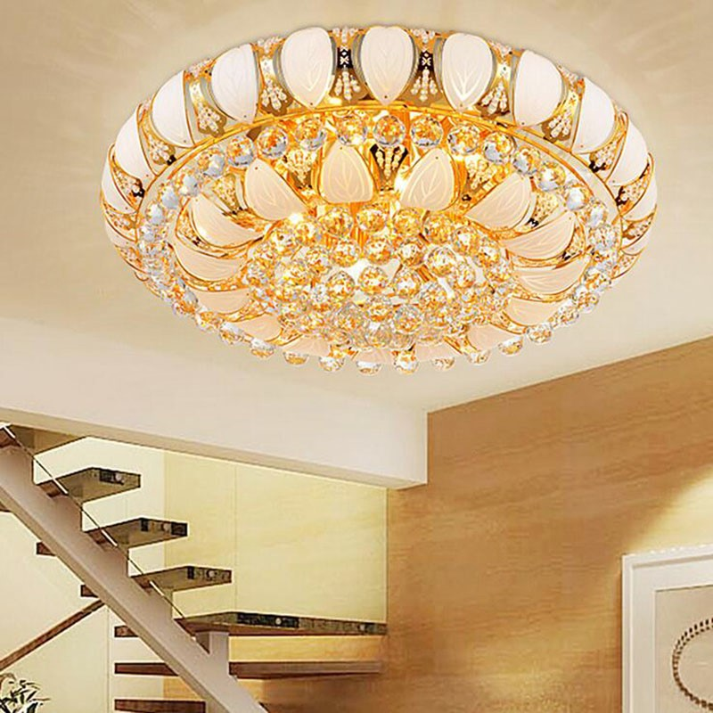 купить Manufactory New Arrival K9 Crystal Chandelier Pendant Lamp Luxury Crystal Light Fixture Lusters Stock Free Shipping по цене 6533.88 рублей