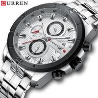 Relogio Masculino Men's Watches CURREN Top Luxury Brand Watch Mens Quartz Stainless Steel Clock Fashion Chronograph Watch Man