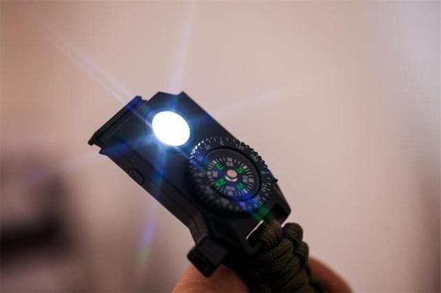 Плетеный браслет мужской светодиодный светильник многофункциональный