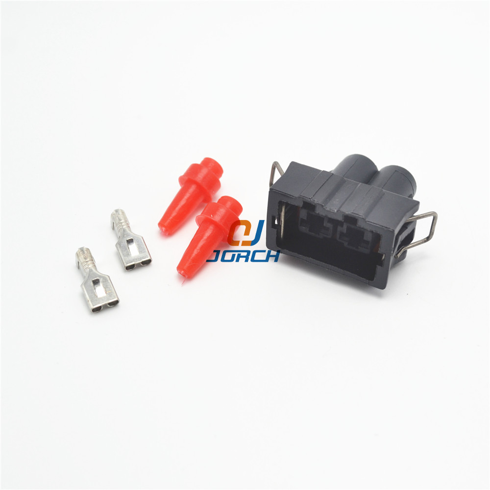 5 Sets 2 Pin VW 6.3 Series Waterproof Connector 357951772 Electrical Auto Sound Horn Plug Connectors 357 951 772