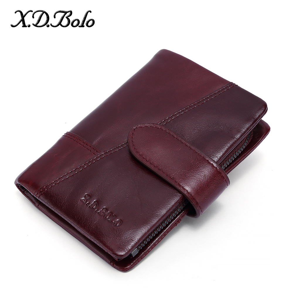 X.D.BOLO Wallets Genuine Leather Women Wallet And Purses Fashion Clutch Wallets Lady Purse Cards Holder Female Wallet Carteras