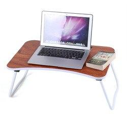 Portátil dobrável de bambu mesa do portátil sofá cama escritório suporte do portátil mesa computador portátil notebook cama