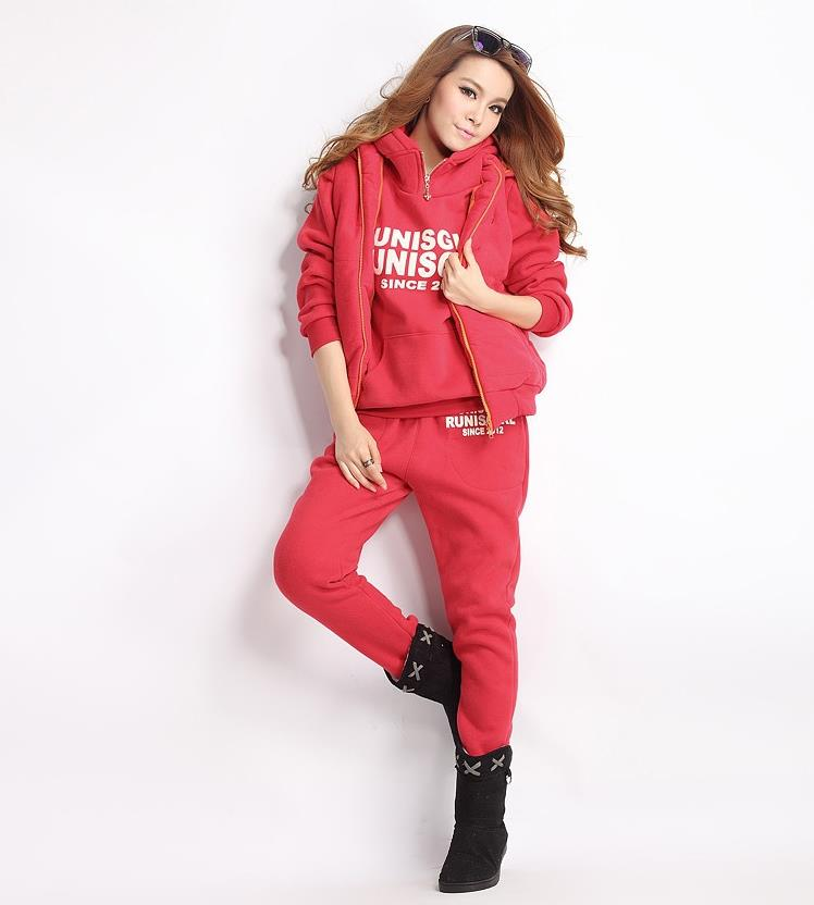 2019 3pcs Women Set Suits Long Sleeve Tracksuit Hoodies+Long Pants Winter Sports Suit Jogging Running Suits Sportswear